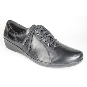 Clarks Everlay Elma Womens Black Lace Up Shoes NEW